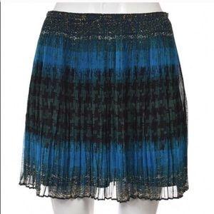 Madewell Broadway & Broome Pleated Teal Skirt Sz 0